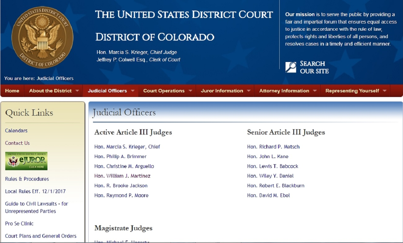 Name:  Colorado USDC Judicial Officers KRIEGER.jpg