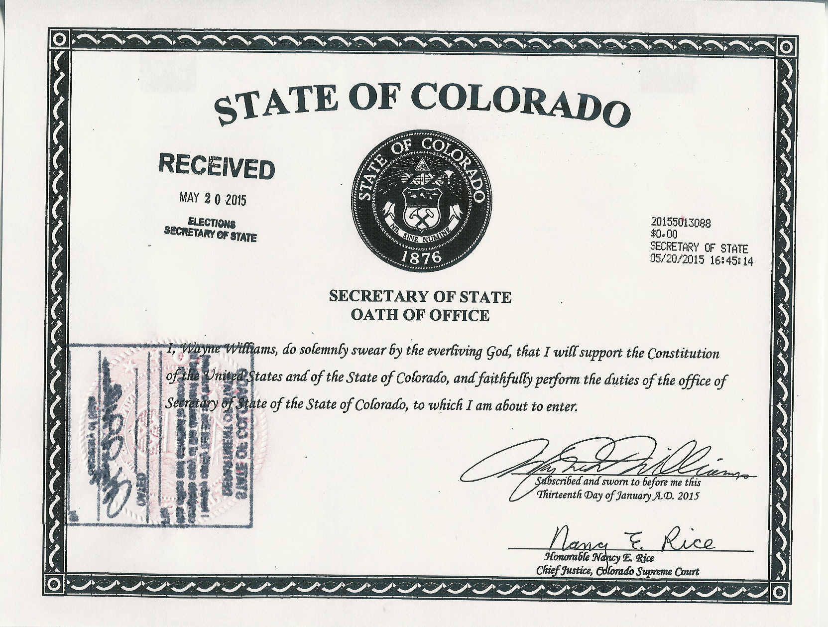 Name:  Secretary of State Wayne WILLIAMS Oath of Office 7 15.jpg