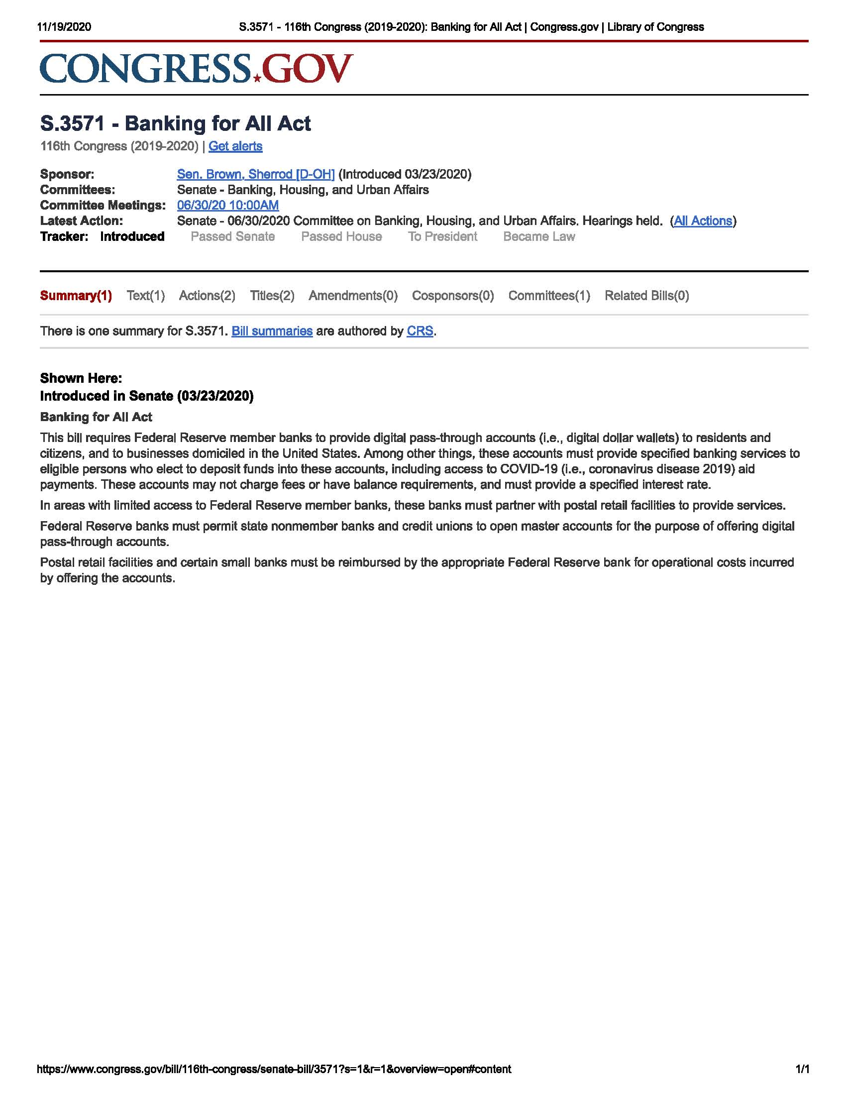 Name:  Banking for All Act S.3571 - 116th Congress (2019-2020) Ba...t Congress.jpg Views: 35 Size:  241.1 KB